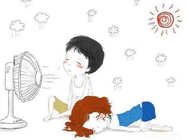 今天天气很热怎么发朋友圈 天气很热的幽默图片说说