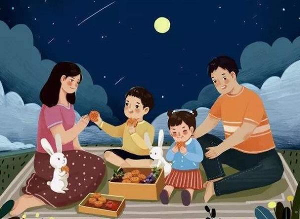 2020中秋节赏月图片说说 中秋家人团聚的唯美句子3