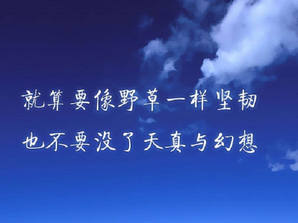 微信精辟英文句子 有深度有道理的英文句子配翻译