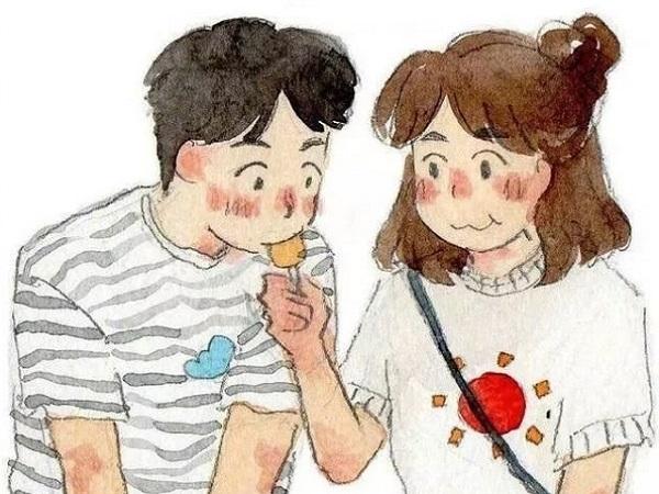 暖心又霸道的爱情表白情话大全带卡通图片,句句甜到心坎里