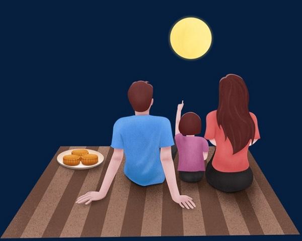 2020中秋节赏月图片说说 中秋家人团聚的唯美句子1